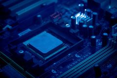 Chip Computer Mainboard principal Imágenes de archivo libres de regalías