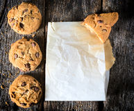 Chip cookies on the table Royalty Free Stock Photography
