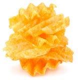 Chip costolati della patata Immagine Stock