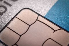 Chip on credit card stock images