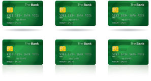 Chip Credit Card. Credit and debit cards with a computer chip for security royalty free illustration