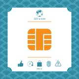 Chip of credit card icon. Element for your design stock illustration
