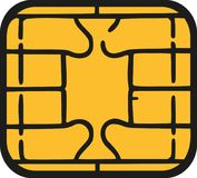 Chip of credit card - sim card chip. Vector royalty free illustration