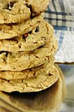 chip czekoladowa sterta ciasteczka Fotografia Royalty Free
