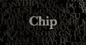 Chip - 3D übertrug metallische gesetzte Schlagzeilenillustration Stockbilder