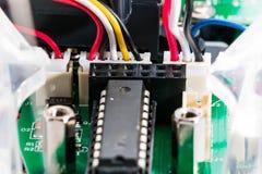 Chip de computador com fios fotografia de stock royalty free