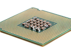 Chip de computador isolado Fotos de Stock Royalty Free
