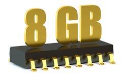 8 chip de memória do Gb RAM ou da ROM para o smartphone e a tabuleta ilustração royalty free