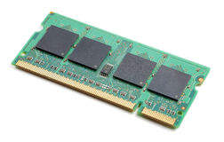Chip de memoria Imágenes de archivo libres de regalías