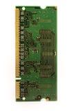 Chip de memoria del ordenador aislado en blanco Fotos de archivo libres de regalías