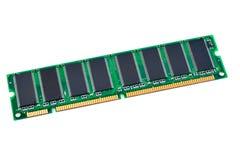 Chip de memoria del ordenador en un fondo blanco Foto de archivo