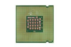 Chip de ordenador aislado Fotografía de archivo libre de regalías