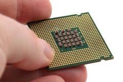 Chip de ordenador aislado Imagen de archivo libre de regalías
