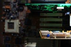 chip de ordenador de la electrónica Imagen de archivo libre de regalías