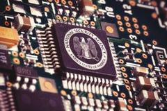 Chip de ordenador del NSA Fotos de archivo libres de regalías
