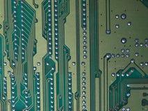 Chip de ordenador eléctrico Imagen de archivo libre de regalías