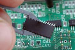 Chip de silicone Imagens de Stock Royalty Free