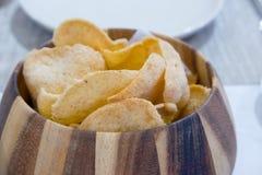 Chip dei cracker del gamberetto Fotografia Stock Libera da Diritti