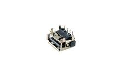 Chip del connettore di USB Fotografia Stock Libera da Diritti