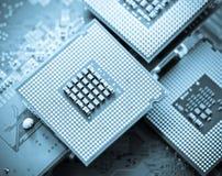 Chip del CPU del computer (unità dell'unità centrale di elaborazione) Fotografia Stock Libera da Diritti