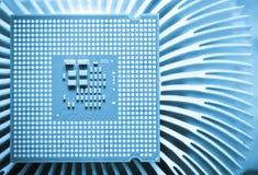 Chip del CPU del computer (unità dell'unità centrale di elaborazione) Immagine Stock Libera da Diritti