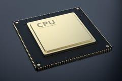 Chip del CPU dell'oro illustrazione vettoriale