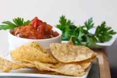 Chip del grano intero della bacchetta della salsa del mango della pesca Immagini Stock Libere da Diritti
