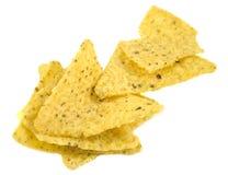 Chip del Nacho isolati su bianco Fotografia Stock Libera da Diritti