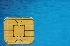 Chip della carta di credito Fotografia Stock