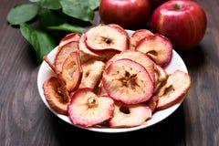 Chip della mela dello spuntino della frutta immagine stock libera da diritti