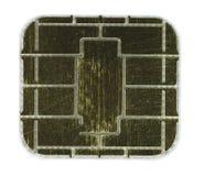 Chip della scheda di Credic fotografia stock