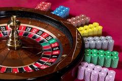 Chip delle roulette Fotografie Stock Libere da Diritti