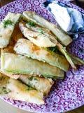 Chip dello zucchini Fotografia Stock