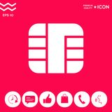 Chip der Kreditkarteikone lizenzfreie abbildung