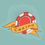 Chip des Kasinos 3D mit Band Stockbild