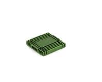 chip det gröna element för datoren royaltyfri fotografi