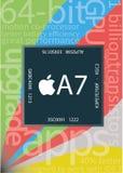 Chip di Apple A7 illustrazione di stock