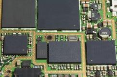 Chip di BGA sul PWB mopbile del telefono Immagini Stock
