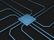 chip di computer 3D illustrazione vettoriale