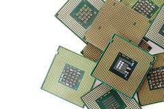 Chip di computer isolati Immagine Stock Libera da Diritti