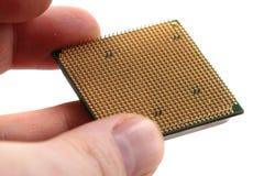 Chip di computer isolato Fotografie Stock