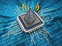 Chip di comunicazione Fotografia Stock