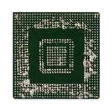 Chip di matrice BGA di griglia della palla desoldered e rovinato male Fotografia Stock