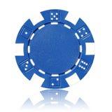 Chip di mazza blu Fotografie Stock Libere da Diritti