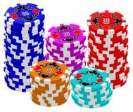 Chip di mazza (impilati) Immagine Stock