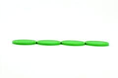 Chip di mazza verdi del casinò - linea Immagine Stock Libera da Diritti