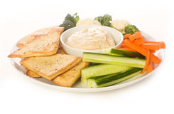 Chip di Pita e disco della verdura Immagini Stock