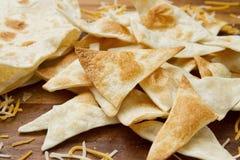 Chip di tortiglia casalinghi della farina Fotografia Stock Libera da Diritti