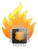 Chip di unità di elaborazione bruciante royalty illustrazione gratis