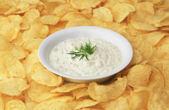 Chip Dip Royalty-vrije Stock Fotografie
